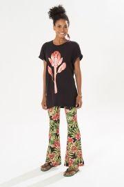 t-shirt flor alcachofra