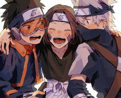 ナルト - - - - Kakashi Hatake x Rin Nohara x Obito Uchiha Naruto Shippuden Sasuke, Naruto Kakashi, Anime Naruto, Naruto Teams, Naruto Cute, Boruto, Manga Anime, Team 10 Naruto, Fan Art Naruto
