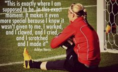 Ashlyn Harris was my favorite player on the UNC Women's team Soccer Pro, Us Soccer, Play Soccer, Soccer Players, Soccer Stuff, Teamwork Quotes, Soccer Quotes, Sport Motivation, Fitness Motivation