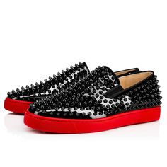 16bd7d138c12 CHRISTIAN LOUBOUTIN Roller-Boat Men S Flat Black Pavot Patent Leather - Men  Shoes -