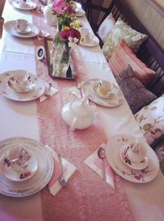 Vintage Tea Party - Styled by Elena Koidis vintage china rentals - cupsandsaucers.ca