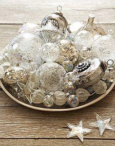 @KatieSheaDesign ♡❤ #Christmas  Vintage baubles