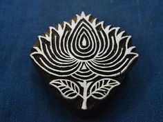 Hand Carved Lotus Flower Wood Block by shopofembellishments