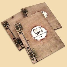 Menu wooden Cover