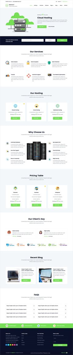 Grehost is clean and modern design responsive #HTML template for web #hosting and technology company website with #WHMCS an RTL download now..