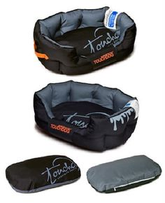 Black Toughdog Performance-Max Sporty Comfort Cushioned Dog Bed