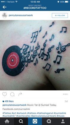 Record tattoo I would like something similar
