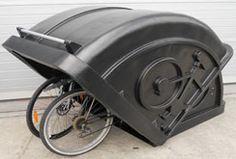 Esse modelo esconde as bicicletas e protege do vento, chuva e curiosos.