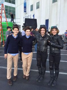 On set, behind the scenes, with TV's Gotham stunt-doubles with Bruce Wayne and Selina Kyle