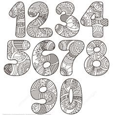 Zentangle Numbers Set 0 9 coloring page from Zentangle Numbers category. Select from 21842 printable crafts of cartoons, nature, animals, Bible and many more.