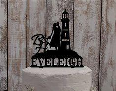 wedding Cake Topper Lighthouse - cake figure / beach wedding / nautical