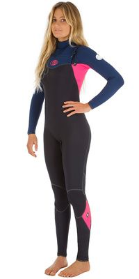 2016 Rip Curl Ladies Flashbomb 5/3mm Chest Zip Wetsuit NAVY WSM5GG