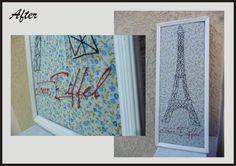 DIY Quadro bordado Paris