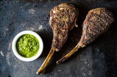 Szechuan Lambypops with Cilantro Chimichurri recipe: Bold distinct flavors. #food52