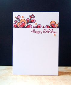 Quilled Birthday Card by Cristina Kowalczyk for Papertrey Ink (December 2012)