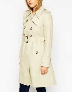Image 3 of ASOS Trench With Pleat Back And Vintage Detail