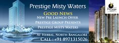 Prestige Misty Waters is a verdant, well laid out enclave of High-Rise Apartments situated just off the Outer Ring Road at Hebbal. With a superb elevation, leading off the line amenities, a refreshing landscape and a view to fall in love with, every class in fact that you have come to take for granted from Prestige.  08971315026 - http://prestige-misty-waters.propertytimes.org