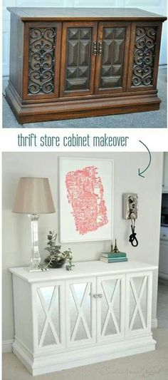 Thrift store make over looks fantastic now...