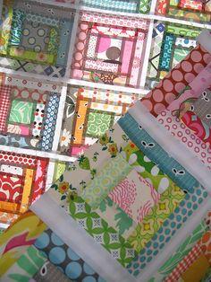 Gelati Log Cabin Quilt Top #quilt #patchwork #logcabin