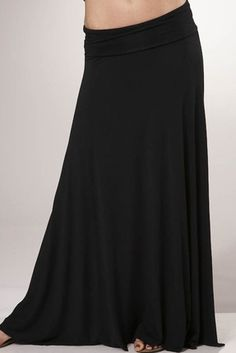 Rachel Pally Long Full Skirt in Black (I would wear the hell out of this.. i just need to dIY it)