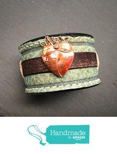 Copper Heart Turquoise Leather Artisan Bracelet from Amy Fine Design https://www.amazon.com/dp/B01BW4DZ7W/ref=hnd_sw_r_pi_dp_eeLGybM1DC7S3 #handmadeatamazon