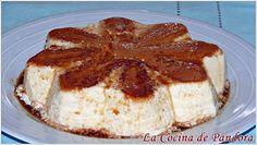 Con esta tarta - flan me conquistó mi marido. Suena a coña, pero es verdad. En una de nuestras primeras charlas, cuando nos conocim... Spanish Desserts, Pecan Bars, Creme Caramel, Spinach Dip, Sin Gluten, Deli, Baking Recipes, Sweet Recipes, Sweet Tooth