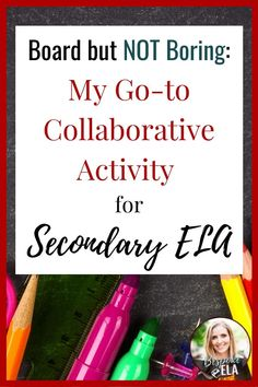 Because this collaborative activity is so simple, it has become my go-to strategy throughout the school year to reinforce various skills and units.  It's an excellent tool to use for test-prep (see this post) and to scaffold reading, writing, and speaking skills. #2ndaryela #englishteacher #collaborative #cooperativelearning #iteachenglish #bespokeela Instructional Planning, Instructional Coaching, Instructional Strategies, Leadership Activities, Teaching Resources, Group Activities, Teaching Ideas, Close Reading Lessons, Reading Skills