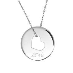 b9f413347a6b0 Collier coeur gravé d un prénom. Made in Rêve - Bijoux personnalisés