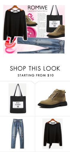 """""""ROMWE 5/V"""" by saaraa-21 ❤ liked on Polyvore featuring romwe"""