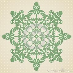 Ornament pattern in Victorian style