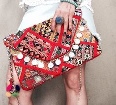 Banjara Bag Vintage Clutch Banjara Clutch Red Bag Gypsy