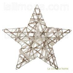 Estrella árbol Navidad plana blanca 30