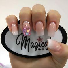 "Magical Spa en Instagram: ""Acrílicas Esculpidas #magicalnailspa"" Aycrlic Nails, Glam Nails, Nude Nails, Nail Manicure, Pink Nails, Beauty Nails, French Tip Acrylic Nails, Simple Acrylic Nails, Elegant Nails"