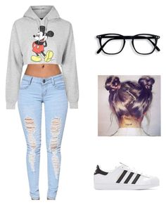 """""""Untitled #191"""" by bris-muffins ❤ liked on Polyvore featuring Topshop and adidas Originals"""
