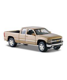 Look at this #zulilyfind! Gold Chevy Silverado Model #zulilyfinds