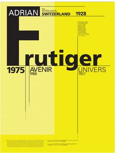 Adrian Frutiger Type Poster by Sergio Castrejon, via Behance