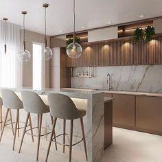 Kitchen Renovation Design, Kitchen Room Design, Luxury Kitchen Design, Kitchen Dinning, Luxury Kitchens, Kitchen Interior, Home Interior Design, Kitchen Decor, Tuscan Kitchens