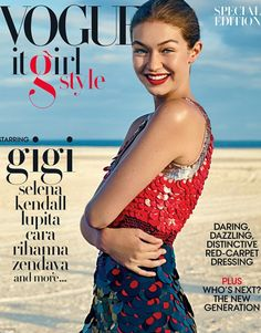 Who made  Gigi Hadid's red sequin dress?