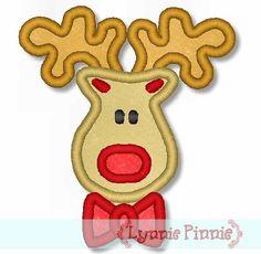 Lynnie Pinnie - Boy Reindeer Applique