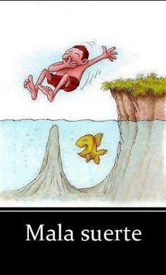 Mala Suerte http://www.grafichistes.com/graficos/mala-suerte/ - #Chistes #Humor http://www.grafichistes.com