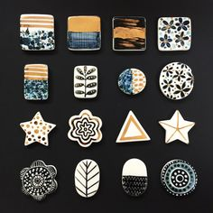 New porcelain rings tops ready to mount #porcelain #jewellery #accessories #bctf2017 #lustre #pattern #abstract #handmade #karenrisbyceramics