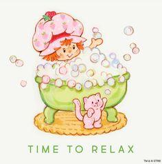 Vintage Strawberry Shortcake - Time to Relax Strawberry Shortcake Cartoon, Strawberry Shortcake Recipes, Strawberry Fields, Hello Kitty, Happy Cartoon, Paper Dolls Printable, Dibujos Cute, Rainbow Brite, Holly Hobbie