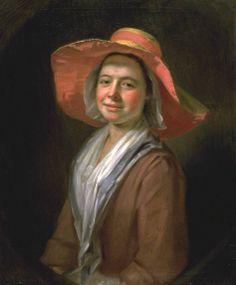 Balthasar Denner, 'A Girl in a Straw Hat' 1723