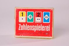 """DDR Museum - Museum: Objektdatenbank - Kartenspiel """"Zahlenspielerei""""    Copyright: DDR Museum, Berlin. Eine kommerzielle Nutzung des Bildes ist nicht erlaubt, but feel free to repin it!"""