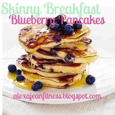 Fitness & Health: Skinny Breakfast - Blueberry Pancakes, healthy breakfast, healthy recipe