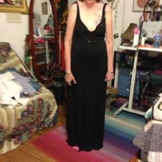 ***SALE***Black evening dress Black evening dress by B Darlin I bought this dress on sale while I was working at a department store and have never worn it except for the pics.THIS ID REALLY A BEAUTIFUL DRESS! THESE PHOTO DO NOT DO IT JUSTICE Dresses