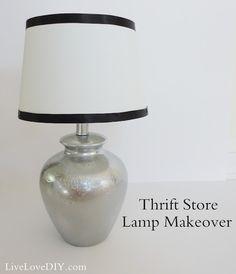 LiveLoveDIY: Thrift Store Lamp Makeover