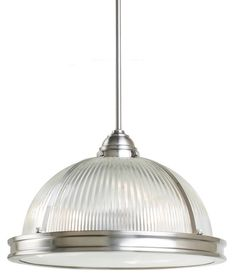 The Sea Gull Lighting Pratt Street Prismatic Three Light Pendant In Brushed Nickel Is An Energy Star Qualified Fixture That Uses Fluorescent Bulbs