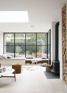 Living Room White, Living Room Windows, Home Living Room, Living Room Designs, Living Room Decor, Kitchen Windows, Interior Design Minimalist, Decor Interior Design, Modern Interior