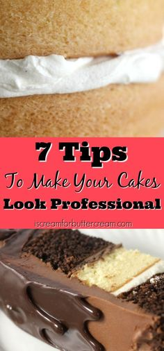 Free Printable Guide: 7 Tips to Make Your Cakes Look Professional. Start your cake decorating journey today! #caketutorial #cakedecoratingtips